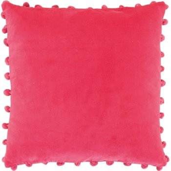 Ian Snow Cerise Cotton Velvet Cushion Cover