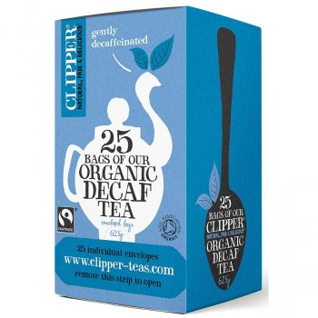 Clipper Fairtrade & Organic Decaf Tea - 25 Bags