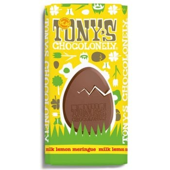 Tonys Chocolonely Milk Chocolate with Meringue & Lemon Easter Chocolate Bar - 180g