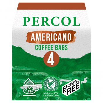 Percol  All Day Americano Ground Coffee Bags - 10 bags