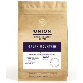 Union Coffee Gajah Mountain Sumatra Whole Coffee Beans - 200g