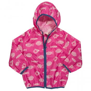 Kite Pink Fish Puddlepack Jacket