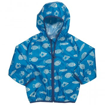 Kite Blue Fish Puddlepack Jacket