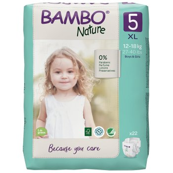 Bambo Nature Disposable Nappies - Junior - Size 5 - Pack of 22