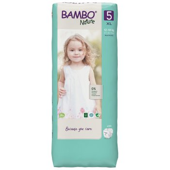 Bambo Nature Disposable Nappies - Junior - Size 5 - Economy Pack of 44