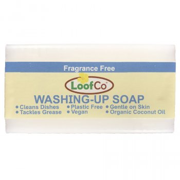 Loofco Fragrance Free Washing Up Soap Bar - 100g