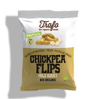 Trafo Mild Curry Chickpea Flips - 75g