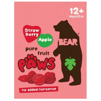 Bear Strawberry & Apple Paws Multipack - 5 x 20g