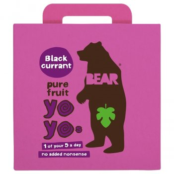 Bear Blackcurrant Yoyo Pure Fruit Rolls Multipack - 5 x 20g