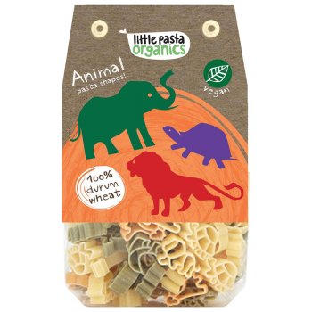 Little Pasta Organics Animal Pasta Shapes - Tricolor - 250g
