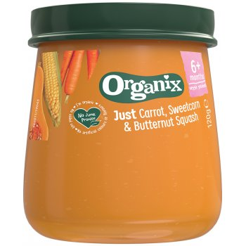 Organix Carrot, Sweetcorn & Squash Baby Food Jar - 120g