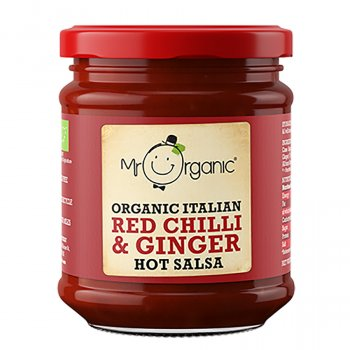Mr Organic Red Chilli & Ginger Hot Salsa - 200g