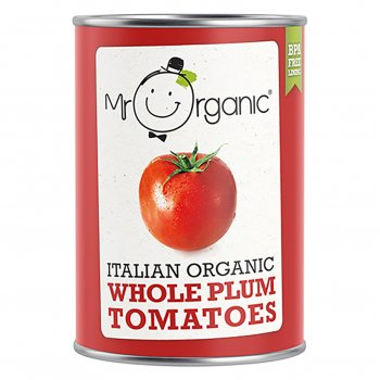 Mr Organic Whole Peeled Tomatoes - 400g