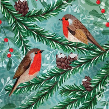 RSPB Little Robins Christmas Cards - Pack of 10