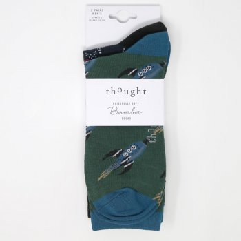 Thought Galaxy Bamboo Socks - UK7-11 - 2 Pairs