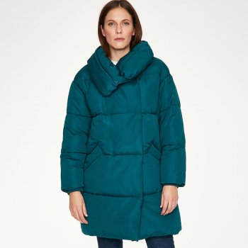 Thought Phebe Puffa Coat - Kingfisher