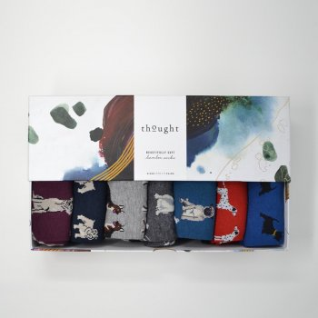 Thought Canine Bamboo Socks Gift Box - UK7-11