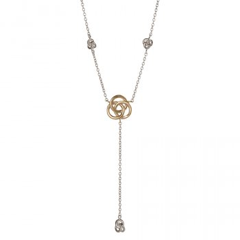 Kashka London Love Drop Sterling Silver Yellow Gold Vermeil Necklace