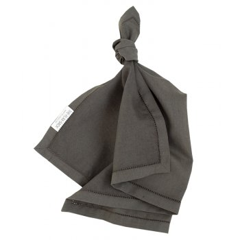 The Flax Sack Organic Linen Napkins - Olive Grey - Set of 2