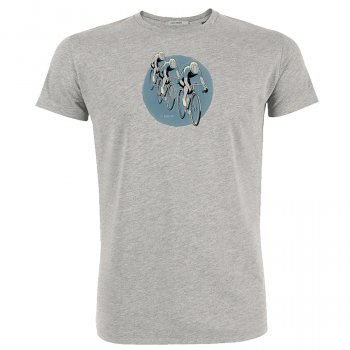 Green Bomb Bike Tour T-Shirt - Grey