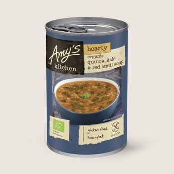 Amys Kitchen Quinoa, Kale & Red Lentil Soup - 400g