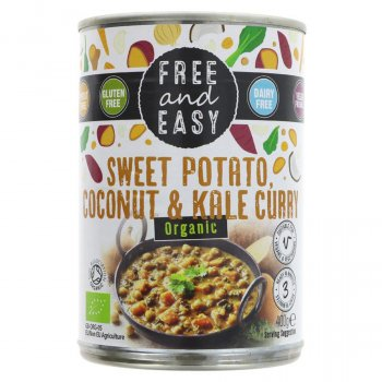 Free & Easy Sweet Potato, Kale & Coconut Curry - 400g
