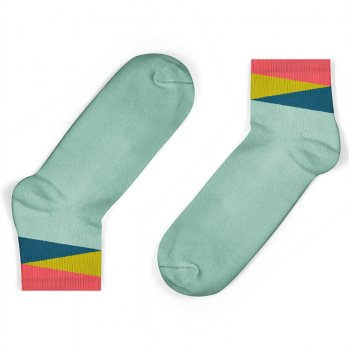 Unisock Kids Mint Geom Ankle Socks