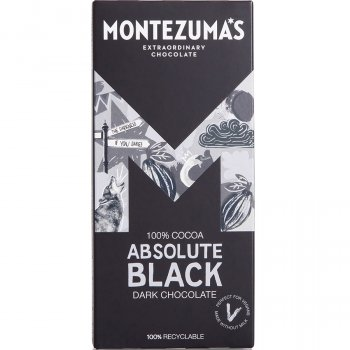 Montezumas Absolute Black 100 percent  Cocoa Chocolate Bar - 90g