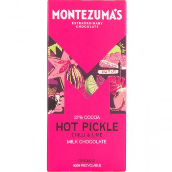 Montezumas Hot Pickle Milk Chocolate with Chilli & Lime Bar - 90g