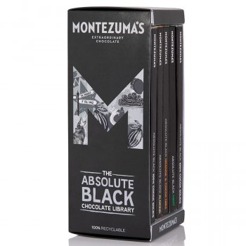 Montezumas Absolute Black Chocolate Bar Library - 450g