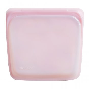 Stasher Silicone Reusable Sandwich Bag - Rose
