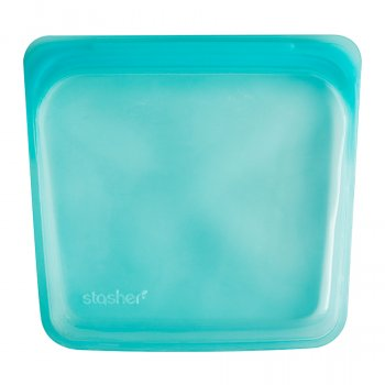 Stasher Silicone Reusable Sandwich Bag - Aqua