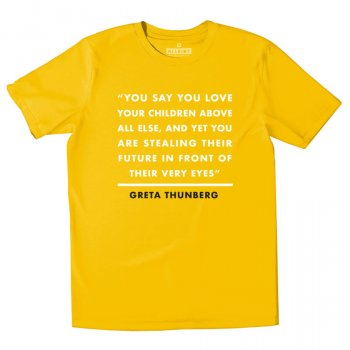 All Riot Greta Thunberg Organic T-Shirt - Yellow