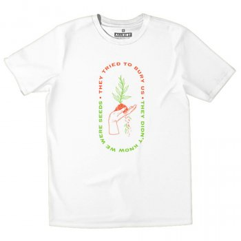 All Riot They Tried to Bury Us Organic T-Shirt - White