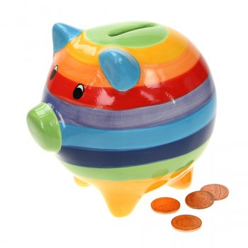 Handpainted Rainbow Money Box