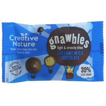 Creative Nature Mylk Chocolate Light & Crunchy Gnawbles - 30g