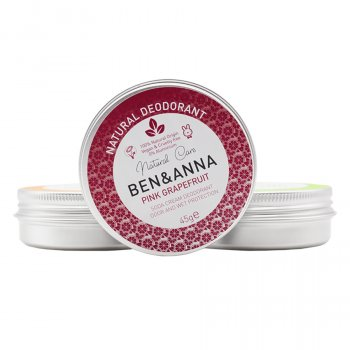 Ben & Anna Natural Deodorant Tin Pink Grapefruit - 45g