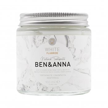 Ben & Anna Natural Toothpaste with Fluoride - White - 100ml