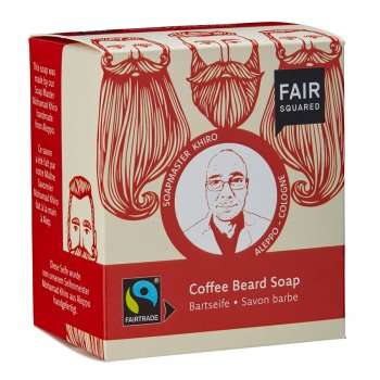 Fair Squared Beard Soap with Cotton Soap Bag - 2 x 80g