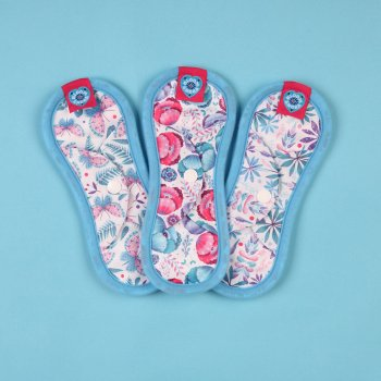 Bloom & Nora Reusable Nora Pads - Mini - Pack of 3