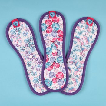 Bloom & Nora Reusable Nora Pads - Mighty - Pack of 3