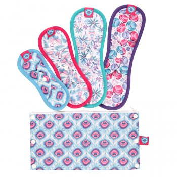 Bloom & Nora Reusable Nora Pads Trial Pack & Bag
