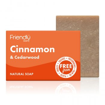 Friendly Soap Cinnamon & Cedarwood Soap Bar - 95g