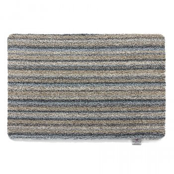 Ribbon Grey Candy Stripe Mat - 50 x 75cm