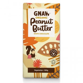 Gnaw Organic Peanut Butter White Chocolate - 100g