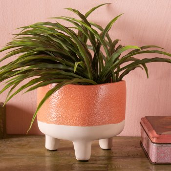 Ian Snow Matte Orange Sand Earthenware Planter