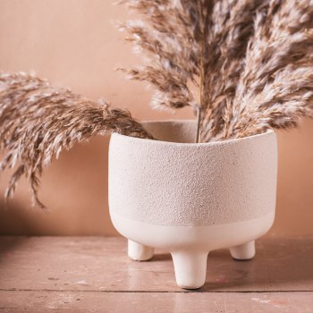 Ian Snow Matte Boiling White Earthenware Planter