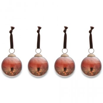 Nari Antique Rust Baubles - Set of 4