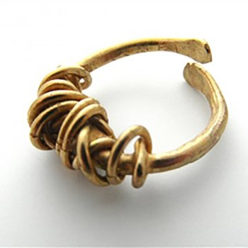 La Jewellery Recycled Brass Fil Embale Ring