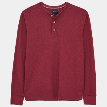 White Stuff Brook Fairtrade Henley T-Shirt - Mid Claret